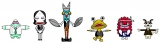 DLE制作の『怪獣酒場 カンパーイ!』でゆるかわデザインで生まれ変わった怪獣たち(C)怪獣酒場 カンパーイ!製作委員会