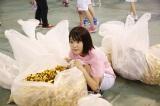 『第2回AKB48大運動会』罰ゲームで撤収作業をしたチームAの宮脇咲良 (C)AKS
