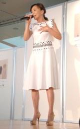 「はじまりのうたが聴こえる」発売記念イベントに出席した華原朋美 (C)ORICON NewS inc.