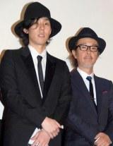 映画『トイレのピエタ』の舞台あいさつに出席した(左から)野田洋次郎、リリー・フランキー (C)ORICON NewS inc.