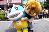 滋賀県のキャッフィーと滋賀ふるさと観光大使を務めるT.M.Revolution・西川貴教のキャラクター、タボくん
