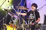 日比谷野外大音楽堂公演を行ったJUN SKY WALKER(S)(写真はドラムの小林雅之)