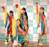 『WELCOME TO JAPAN PROJECT』発足式でライブを披露したみちのく仙台ORI☆姫隊(C)ORICON NewS inc.