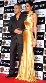 映画『トゥモローランド』ジャパンプレミアに出席した(左から)ジョージ・クルーニー、アマル・アムラディンさん夫妻(C)ORICON NewS inc.