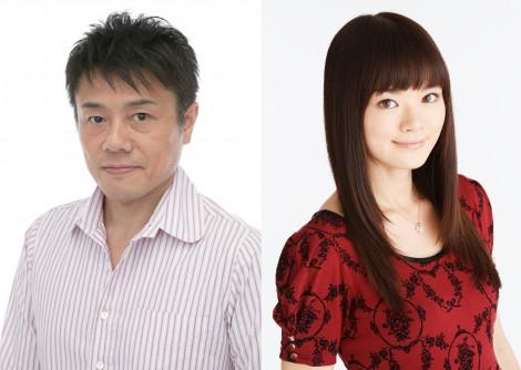 結婚を報告した(左から)草尾毅、斉藤佑圭