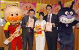 公開アフレコには(左から)アンパンマン、塙宣之、大島優子、土屋伸之、ばいきんまんが出席(C)ORICON NewS inc.