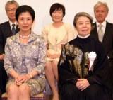 映画『あん』プレミアム試写会に出席した(左から)高円宮妃殿下、樹木希林(C)ORICON NewS inc.