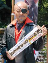 映画『アベンジャーズ/エイジ・オブ・ウルトロン』大ヒット祈願イベントに出席した竹中直人