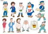 日本テレビ系連続ドラマ『ど根性ガエル』(毎週土曜 後9:00)の原作キャラクターたち(C)吉沢やすみ/オフィス安井(C)日本テレビ