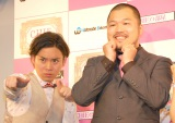Wヒモを嘆いたクマムシ・佐藤大樹(左)と相方の長谷川俊輔(右) (C)ORICON NewS inc.