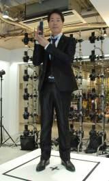 『3Dプリントフィギュアスタジオ』オープンイベントに出席した稲垣潤一 (C)ORICON NewS inc.