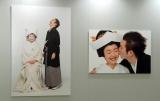 式場の入り口に飾られたパネル 撮影:篠山紀信 (C)ORICON NewS inc.