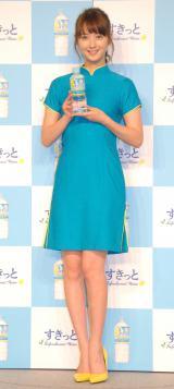 『アサヒすきっとレモン』新商品&新CM発表会に出席した佐々木希 (C)ORICON NewS inc.