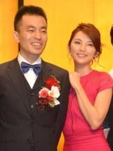 『第33回(2014年度)向田邦子賞贈賞式』に出席した(左から)前田司郎氏、田中麗奈 (C)ORICON NewS inc.