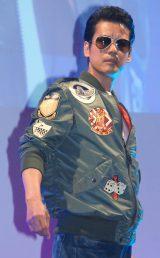 80年代の衣装で登場した唐沢寿明=ドラマ『THE LAST COP/ラストコップ』完成披露試写会 (C)ORICON NewS inc.