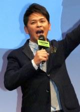 ドラマ『THE LAST COP/ラストコップ』完成披露試写会でMC務めたますだおかだの岡田圭右 (C)ORICON NewS inc.