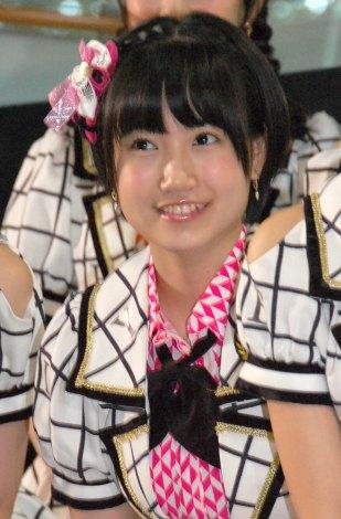 『西鉄バス 総選挙当日臨時バス行き先案内LED〜AKB48総選挙ver〜お披露目』イベントに出席した朝長美桜 (C)ORICON NewS inc.
