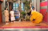 『さんまのまんま』に長澤まさみと広瀬すずが登場。まんまコーナーでは、運動神経に自信のある広瀬が縄跳びの二重跳びを披露。関西テレビは6月6日、フジテレビは6月7日放送(C)関西テレビ