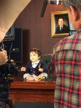 テレビ東京のミニ番組『社長出川哲朗(1歳)』の赤ちゃん社長。かなりハンサム!(C)テレビ東京