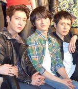 ミュージカル『RENT』の制作記者会見に出席した(左から)ユナク、村井良大、堂珍嘉邦 (C)ORICON NewS inc.