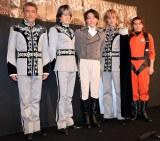 舞台の衣装を着て取材に出席した出演者たち(C)ORICON NewS inc.