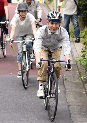 「自転車ヘルメット委員会」発足記者会見に出席したシャ乱Qのまこと (C)ORICON NewS inc.