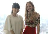 映画『トゥモローランド』でケイシーを演じるブリット・ロバートソン(右)、日本語吹替え版で声優を務める志田未来(左) (C)ORICON NewS inc.