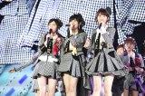 『第7回AKB48選抜総選挙』TOP3の(左から)渡辺麻友、指原莉乃、柏木由紀(C)AKS