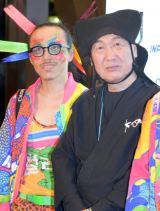 (左から)レスリー・キー氏、山本寛斎氏 (C)ORICON NewS inc.