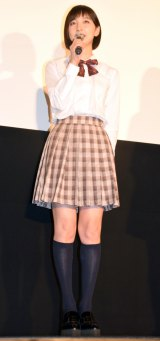女子高生の制服姿で登場した篠田麻里子 (C)ORICON NewS inc.