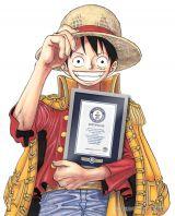 原作の『ONE PIECE』は、最も多く発行された単一作者によるコミックシリーズ「The most copies published for the same comic  book series by a single author」320,866,000冊(2014年12月末現在)として、ギネス世界記録に認定。記念の描きおろしイラスト(C) 尾田栄一郎/集英社