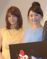 映画『呪怨 −ザ・ファイナル−』の初日舞台あいさつに登壇した柳ゆり菜、おのののか (C)ORICON NewS inc.