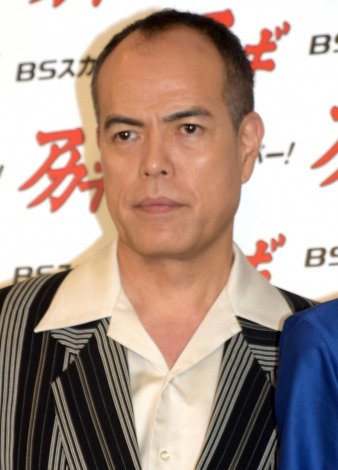BSスカパー!新ドラマ『アカギ〜闇に降り立った天才〜』の製作発表会見に出席した田中要次(C)ORICON NewS inc.