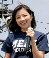 『Food Nations〜肉フェスTOKYO2015春〜』のオープンセレモニーに出席した青山あみ(C)ORICON NewS inc.