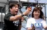 『Food Nations〜肉フェスTOKYO2015春〜』のオープンセレモニーに出席した(左から)寺門ジモン、野呂佳代(C)ORICON NewS inc.
