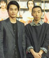 BSプレミアムのドラマ『本棚食堂』試写会に出席した(左から)中村蒼、柄本時生 (C)ORICON NewS inc.