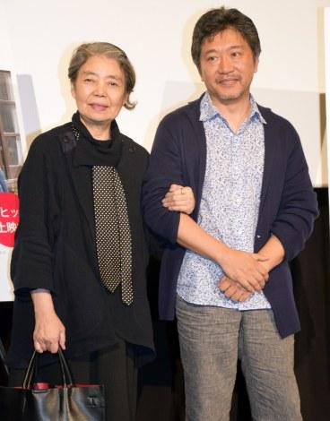 映画『海街diary』のティーチインイベントに出席した(左から)樹木希林、是枝裕和監督(C)ORICON NewS inc.