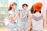 買物を楽しむ3人(左から)茜屋日海夏、芹澤優、久保田未夢