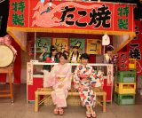 CSテレ朝チャンネル1特別番組『「夏のももクロLIVE祭り」〜女子会トーク満載!舞台裏も話ちゃうぞSP〜』収録の模様
