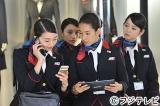 人気モデルたちが演じるキャビンアテンダントに注目!(左から)松島花、高橋メアリージュン、すみれ、佐々木希