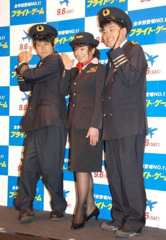映画『フライト・ゲーム』トークイベントに出席した(左から)篠宮暁、堀ちえみ、高松新一 (C)ORICON NewS inc.
