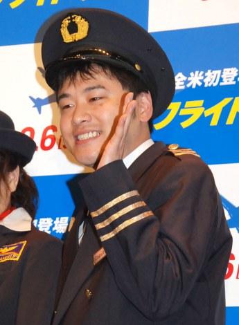 映画『フライト・ゲーム』トークイベントに出席したオジンオズボーン・高松新一 (C)ORICON NewS inc.