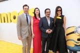 左からジョン・ハム、天海祐希、真田広之、サンドラ・ブロック=『ミニオンズ』のLAプレミア (C)2015 Universal Studios.