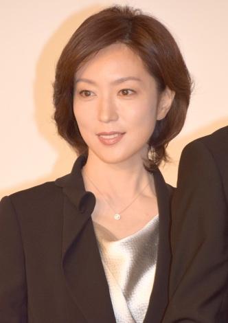 ドラマ『ホテルコンシェルジュ』の制作記者会見に出席した若村麻由美 (C)ORICON NewS inc.
