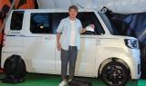 『WAKE特別仕様車』発売記念イベントに出席したヒロミ (C)ORICON NewS inc.