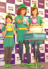 妖精姿を披露した(左から)ユカイ、濱田ここね、黛英里佳 (C)ORICON NewS inc.