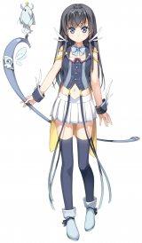 デュアル(CV:種田梨沙)…<知識の箱>を守るため、どこからか襲い来る敵と戦っている少女。口数は少なく寡黙 (C)Project D.backup