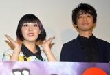 『虎影』大ヒット舞台あいさつに出席した(左から)鳥居みゆき、斎藤工(C)ORICON NewS inc.