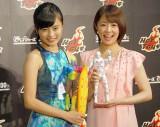 『アベンジャーズ200%ホットトイズ』プレスプレビューに出席した(左から)小島瑠璃子、小林麻耶 (C)ORICON NewS inc.