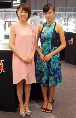 『アベンジャーズ200%ホットトイズ』プレスプレビューに出席した(左から)小林麻耶、小島瑠璃子(C)ORICON NewS inc.